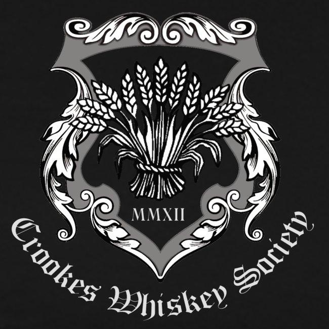 Crookes Whiskey Society t-shirt (black, small crest)