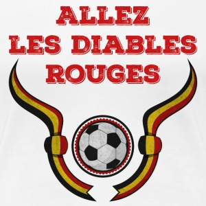 Wit Allez les rouges diables 2016 T-shirts - Vrouwen Premium T-shirt