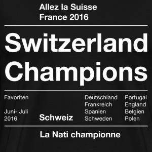 Black Switzerland Soccer 2016 T-Shirts - Men's Premium T-Shirt