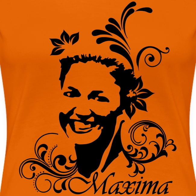 Girlie dames shirt voor Koningsdag met Maxima opdruk