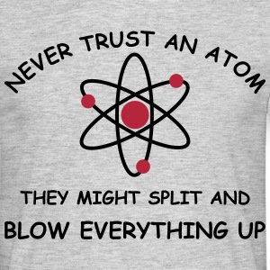 Atoms blow up 2 col T-shirts - Herre-T-shirt