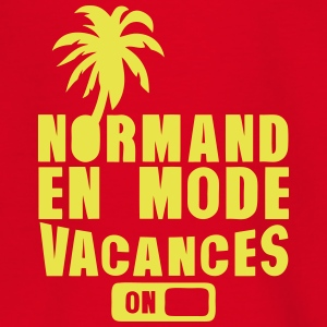 normand en mode vacance palmier on