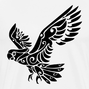 Tribal Cockatoo parrot bird tattoo - Men's Premium T-Shirt