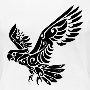 Tribal Cockatoo parrot bird tattoo - Women's Premium T-Shirt