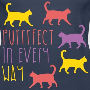 AD Purrfect in every way Tops - Women's Premium Tank Top
