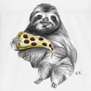 Slot Eating Pizza T-Shirt - Men's Premium T-Shirt