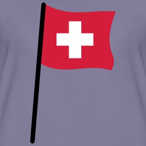 swiss flag - Premium-T-shirt dam