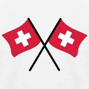 Swiss Flag - Kids' Baseball T-Shirt