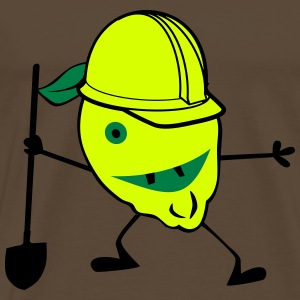 Construction worker lemon - Men's Premium T-Shirt