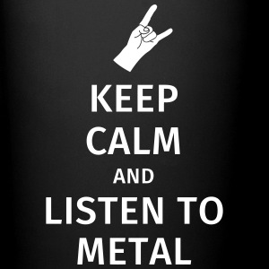 Keep Calm and Listen to Metal Krus & tilbehør - Ensfarvet krus