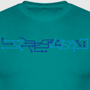 technology line connection microchip datentechnik  T-Shirts - Men's T-Shirt
