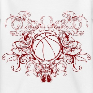 vintage_ball_sport_042016_basketball_b T-Shirts - Kinder T-Shirt