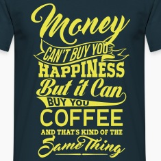 MONEY and COFFEE MEN T-SHIRT
