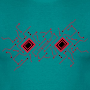 circuitry technology lines microchip disk pattern  T-Shirts - Men's T-Shirt