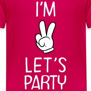 I'm Two - Let's Party T-Shirts - Kinder Premium T-Shirt