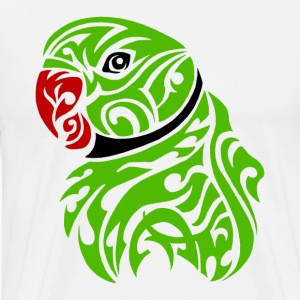 Green ringneck parrot tattoo - Men's Premium T-Shirt