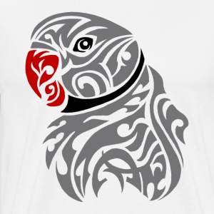 Grey ringneck parrot tattoo - Men's Premium T-Shirt