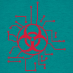 circuitry electrically symbol toxic virus bacteria T-Shirts