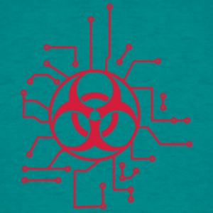 circuitry electrically symbol toxic virus bacteria T-Shirts - Men's T-Shirt