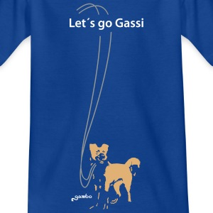 Let´s go Gassi - Kinder T-Shirt