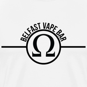 Belfast Vape Bar shirt (white) - Men's Premium T-Shirt