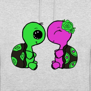 Cute Turtle Couple Hoodie #1 - Unisex Hoodie