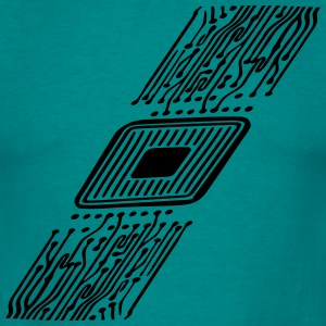 microchip disk pattern design cool T-Shirts - Men's T-Shirt