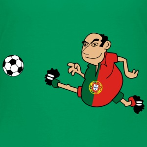 Voetbal in Portugees - Kinderen Premium T-shirt