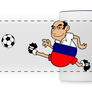 Russian footballer - Panoramic Mug