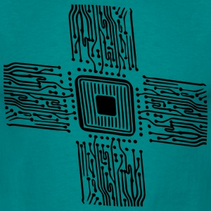 microchip disk pattern design T-Shirts - Men's T-Shirt
