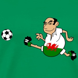 Soccer man Wales - Men's Premium T-Shirt