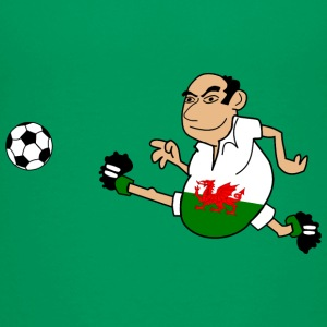 Fussball Mann Wales - Teenager Premium T-Shirt