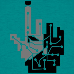 Show mouse hand click computer pc online circuitry T-Shirts - Men's T-Shirt