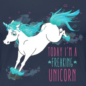 Navy Today I´m a freaking unicorn T-Shirts - Frauen Premium T-Shirt