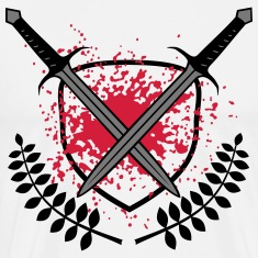 bloody swords Spartan blood splatter T -Shirts
