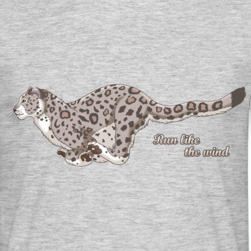 Snow Leopard Running