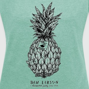 The Pineapple Experiment - Frauen T-Shirt mit gerollten Ärmeln