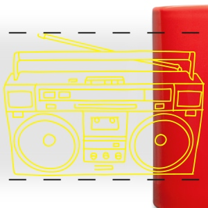Boombox Mugs & Drinkware - Full Color Panoramic Mug