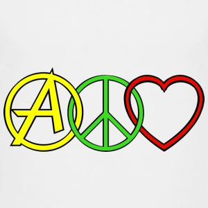 ANARCHY PEACE & LOVE T-shirts - Teenager premium T-shirt