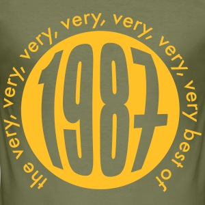 Very very very best of 1987 T-Shirts - Männer Slim Fit T-Shirt