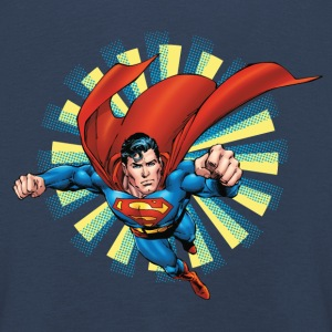 Superman Flying Pose Enfants Tee shirt manches lon - Tee shirt manches longues Premium Enfant