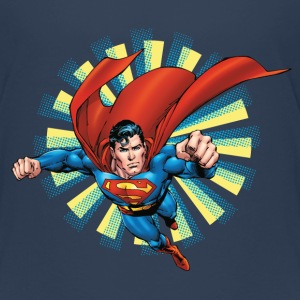 Superman Flying Pose Kinder T-Shirt - Kinder Premium T-Shirt