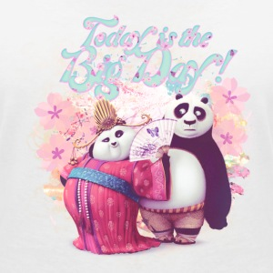 Kung Fu Panda Big Day Women T-Shirt - Women's V-Neck T-Shirt