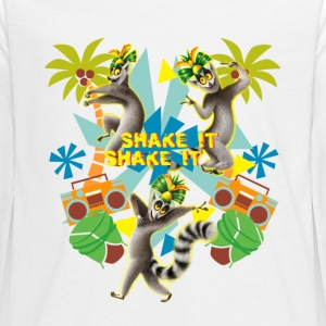 DreamWorks King Julien Shake it Teenager Langarmsh - Teenager Premium Langarmshirt
