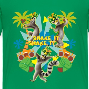 DreamWorks King Julien Shake it Teenager T-Shirt - Teenager Premium T-Shirt
