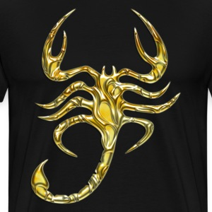 Scorpion, digital, Scorpio, gold T-Shirts - Men's Premium T-Shirt