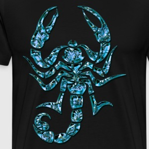 Blauwe Scorpion, digitale, T-shirts - Mannen Premium T-shirt