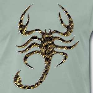 scorpion, black, gull T-skjorter - Premium T-skjorte for menn
