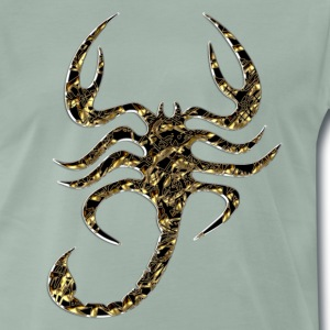Scorpion, gold, black T-Shirts - Men's Premium T-Shirt