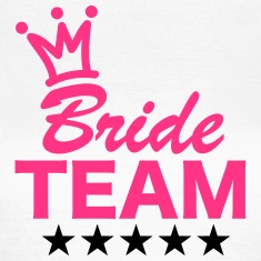 Bride, Team, Wedding, 5 Stars, Crown, Marriage Tee shirts